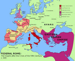 Roman World Map by Federal Roman Empire After The Crisis Of The 5th Century C 600