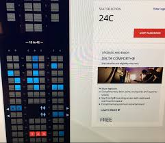 Delta Comfort Plus Seats Delta Comfort Plus Showing Free At Check In Travelupdate