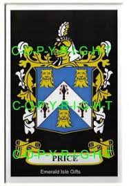price family crest coat of arms mount or framed 10 x 8