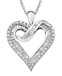 necklace with diamond heart images Diamond heart necklace in 14k white gold or 14k gold 1 2 ct t w tif