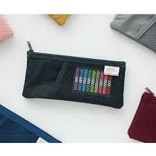 pencil pouches livework mesh pocket pencil pouch zipper pen accessory bag