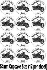 harley davidson cake toppers harley davidson vtwin black motorbike birthday cake topper choices