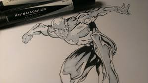 drawing silver surfer mavel comics youtube