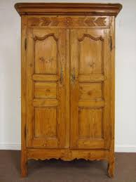 French Provincial Armoire Igavel Auctions French Provincial Style Pine Armoire Continental