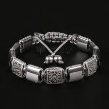 luxury bracelet images Men 39 s luxury bracelet with silver venetian beads jpg