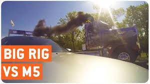 kenworth super truck super truck drag race with bmw m5 vs kenworth w900