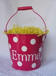 easter buckets mongrammed easter buckets thrifty momma ramblings