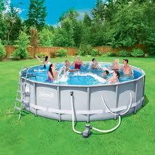 How To Build A Backyard Pool by Coleman Power Steel 16 U0027 X 48