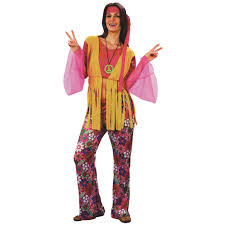 70s Halloween Costumes Men Peace Hippie Headband 1960s Ladies Fancy Dress Womens 60s 70s