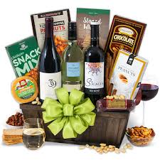 wine gift basket ideas christmas wine gift baskets by gourmetgiftbaskets