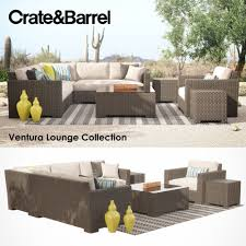 Ventura Patio Furniture by Crate And Barrel Ventura Lounge Collection Set I 3d Model Max