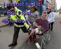 Photogenic Runner Meme - it had to be the white supremacists they knew blacks would finish