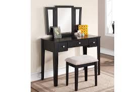 Mirror Sofa Table by Madhatter 3 Panel Mirror Vanity U0026 Stool Set