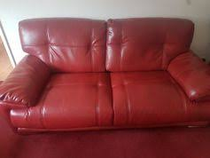 used red leather sofa sofas in sunderland great britain used shpock