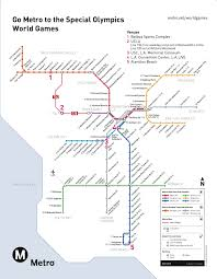 Metro Rail Map Los Angeles by Special Olympics World Games Eastern Group Publications Egpnews