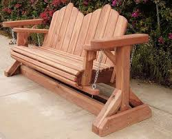 Garden Rocking Bench Garden Glider Plans Redwood Swing Bench Projects To Try Within