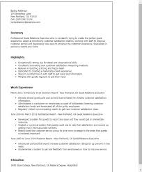 Rate My Resume Guest Relations Executive Cover Letter