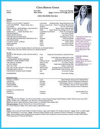 Resume Sample Beginners by Child Modeling Resume Format Kids Acting Sample Actors Template