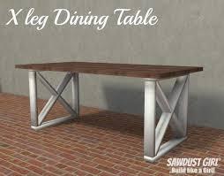 x leg dining table x leg dining table plans sawdust