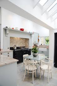 Aga Kitchen Design In This Lovely Light Blue In Frame Kitchen We Constructed A Fake