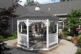 Backyards With Gazebos by Backyard Gazebo Ideas From Lancaster County Backyard In Kinzers Pa