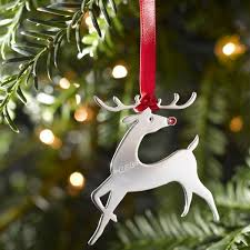 rudolph sterling silver tree decoration