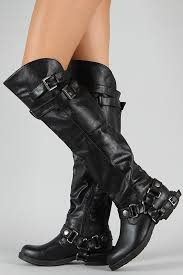 womens motorcycle riding boots dollhouse hit buckle riding knee high boot i will get a pair of