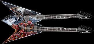 new dean dave mustaine double neck guitar news audiofanzine