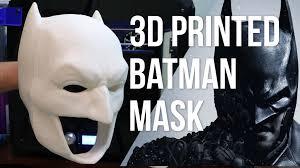 bat mask halloween the ultimate 3d printed batman mask replica prop part 1 youtube
