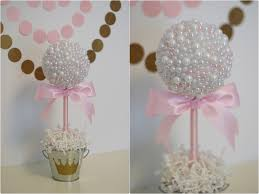Baby Shower Centerpiece Ideas by Pearl Centerpieces White U0026 Pink Pearls Baptism Centerpiece