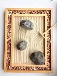 Mini Zen Rock Garden Mini Zen Garden Sand Rocks And Border Pulses Representing