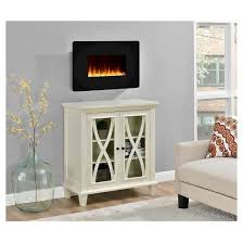 Small Electric Fireplace Kenna Small Wall Mounted Electric Fireplace Black Altra Target