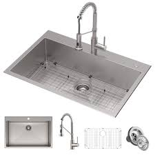 what size undermount sink for 33 inch base cabinet 33 drop in undermount kitchen sink w bolden commercial pull faucet in spot free stainless steel