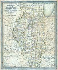 of illinois map mitchell s map of illinois exhibiting its improvements