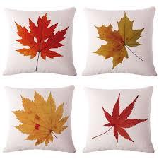 amazon com bpfy cotton linen leaves maple leaf cushion covers 18