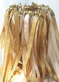 ribbon wands 100 ivory gold wedding wedding ribbon wands wedding favors