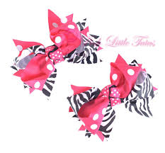baby girl hair bows posh baby girl hot pink zebra hair bow clippy baby
