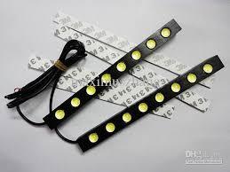 drl 8x led light 12v auto led lights led lens waterproof