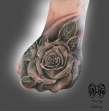 31 rose tattoos on hands for men