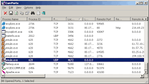 currports v2 31 monitoring opened tcp ip network ports