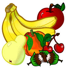clipart fruits coloured