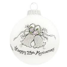 anniversary ornament heart gifts by teresa happy 25th anniversary ornament with