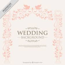 wedding backdrop design vector decoration with birds wedding background vector