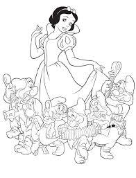 상의 snow white coloring pages에 관한 상위 115개 이미지