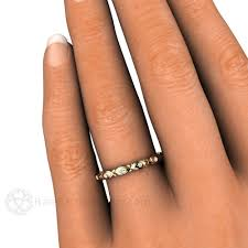 art deco inspired diamond eternity band or stackable bridal ring