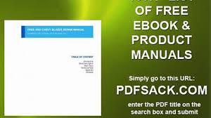 free 2002 chevy blazer repair manual video dailymotion