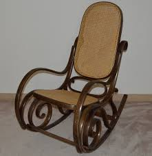 Mission Style Rocking Chair Thonet Style Bentwood Cane Rocking Chair Ebth