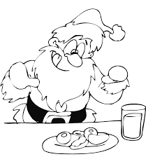 santa claus coloring santa christmas treats