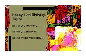 happy 13th birthday greeting card milestone birthday printable