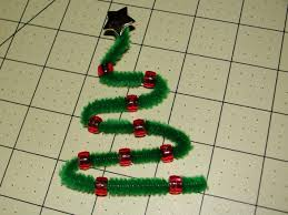 pipe cleaner tree ornaments easy kid friendly